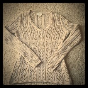 Ann Taylor Loft Knit Sweater Taupe Color